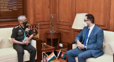 Ambassador Mamundzay Meets Indian Chief of the Army Staff